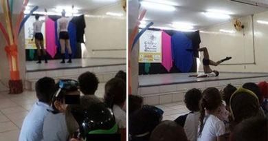 Dançarinos de cueca para crianças de 4 anos causa polêmica
