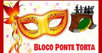 Bloco Ponte Torta divulga programação de fevereiro