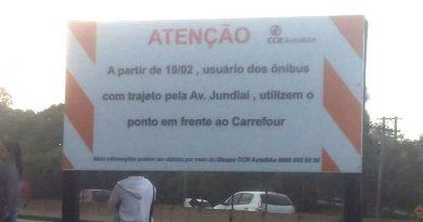 Ponto de ônibus da Anhanguera muda de local