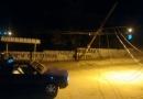 Caminhão derruba poste em Jundiaí