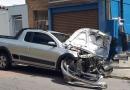 Picape bate em ônibus no Centro de Jundiaí