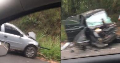 Acidente na Estrada Velha de SP deixa trânsito lento