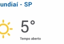Temperatura em Jundiaí fica em 5 graus