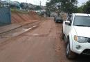 Chuva gera reclamação em obra na avenida Bertioga