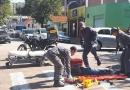 Motociclista sofre acidente no Vianelo