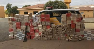 Polícia Rodoviária apreende 1.363 tijolos de cocaína
