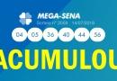 Mega-Sena acumula em R$ 56 milhões