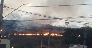 Morro do Marco Leite tem mais um incêndio
