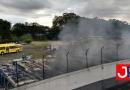 Incêndio destrói vários ônibus da Viação Jundiaiense