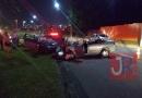Roubo de carro termina em acidente grave