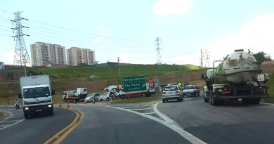 Rodovia Dom Gabriel registra três acidentes