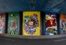 Grafitagem leva cores ao viaduto da avenida Nove de Julho