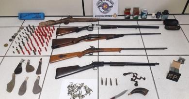 Homem preso com armas em Itupeva