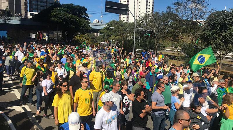 Jundiaí tem ato em apoio ao Governo Bolsonaro