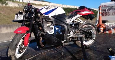 Motociclista é socorrido para Franco, após acidente
