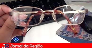 Óculos encontrado no Centro de Jundiaí