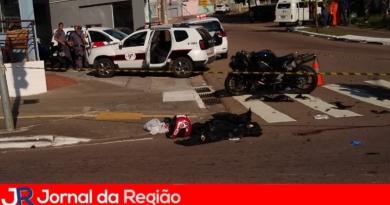 Motociclista atingido por carro na Nove