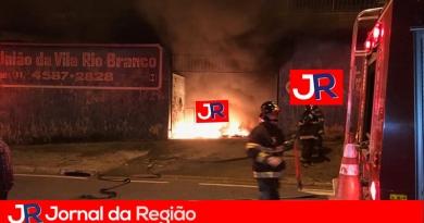 Sede da União da Vila Rio Branco pega fogo
