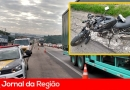 Motociclista fica ferido em acidente na Dom Gabriel