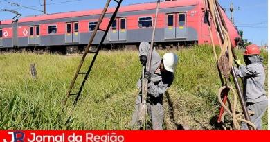 Várzea faz sondagem do solo na ferrovia