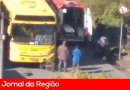 Motociclista bate de frente em ônibus