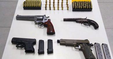 PM prende homem com quatro armas e 240 munições