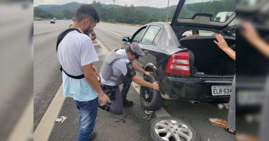 Família elogia policiais rodoviários